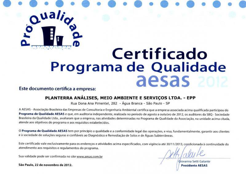 Certificado AESAS